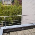 Balustrade aan terras in inox