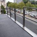 Balustrade in inox met glas te Antwerpen